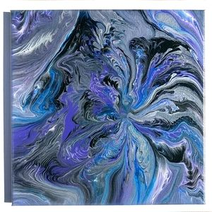 COPY - Original art abstract painting purple silv…